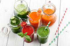 Mix of vegetable juices Royalty Free Stock Images