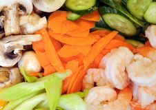 Mix of vegetable and shrimp Royalty Free Stock Photography