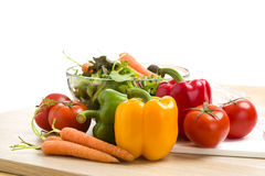Mix of vegetables on salad Stock Image