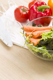 Mix of vegetables on salad Royalty Free Stock Photo
