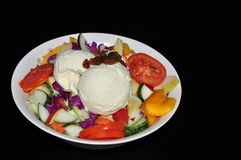 Mix vegetables salads with ice cream Royalty Free Stock Images