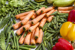 Mix vegetables on sale Royalty Free Stock Photo