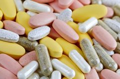 Mix of vitamins Royalty Free Stock Photography