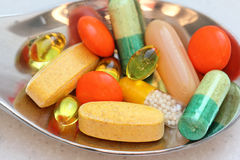 Mix of vitamins colorful Royalty Free Stock Image