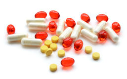 Mix of vitamins Stock Images