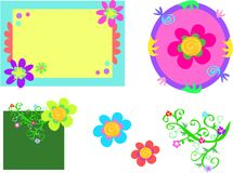 Mix of Whimsical Frames and Designs Stock Photos