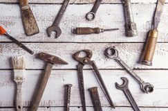 Mix of work tools Stock Photography