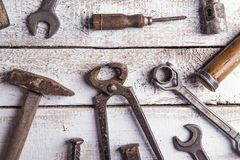 Mix of work tools Royalty Free Stock Photo