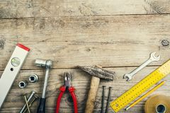 Mix of work tools Royalty Free Stock Photos