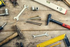 Mix of work tools Stock Images