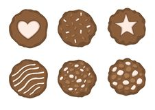 Chocolate Baked Cookies on white background illustration vector royalty free illustration