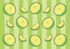 Lemon Wrapping paper and Wale Design pattern background stock illustration
