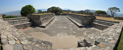 Mixco Viejo - Group B Ball Court. An archaeological site in the north east of the Chimaltenango department of Guatemala. The archaeological site has now been Stock Image