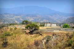 Mixco Viejo - het Plein van de Groep B Stock Afbeeldingen
