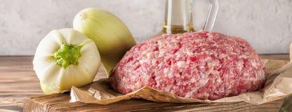 Mixe de la carne de tierra picó la carne de vaca y el cerdo fotos de archivo
