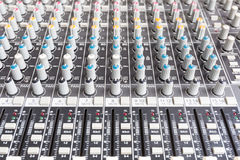 Mixe sain, console de mélange photos libres de droits