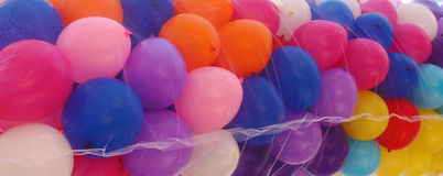 Mixed air baloons Royalty Free Stock Photos