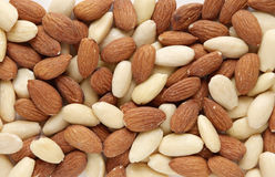 Almond nuts background Stock Photography
