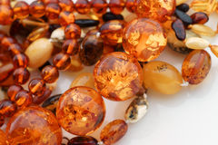 Mixed Amber Jewelry Stock Photo