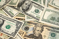 Mixed American Currency Royalty Free Stock Photography
