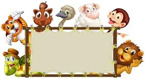 Mixed animals banner Royalty Free Stock Photos