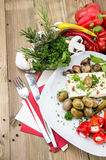 Mixed Antipasto on a plate Stock Images