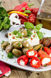 Mixed Antipasto on a plate Stock Photo