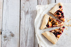 Mixed Apple and Berry Galette. royalty free stock photo