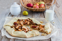 Mixed Apple and Berry Galette. Rustic apple pie galette with a buttery crust Royalty Free Stock Photo
