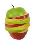 Mixed apple slices Stock Image