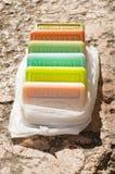 Mixed aroma soap in provence Stock Photo