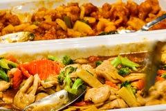 Mixed Asian food at the restataurant stock photos