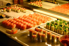 Mixed Asian food sushi Stock Image