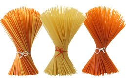 Mixed assortment of spaghetti Royalty Free Stock Photography