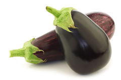 Mixed aubergines Royalty Free Stock Photo