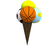 Mixed balls in an ice cream cone Stock Photography