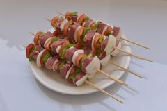 Mixed barbecue Stock Photography