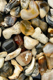 Mixed Beach Stone Background Stock Photography