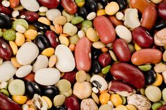 Mixed beans Royalty Free Stock Image