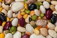 Mixed Beans Royalty Free Stock Photos