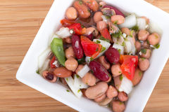 Mixed beans salad Royalty Free Stock Image