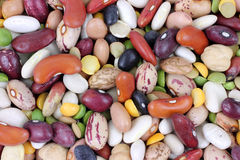 Mixed Beans up Close Stock Photo