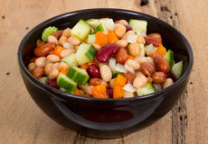 Mixed beans and vegetables salad Stock Photos