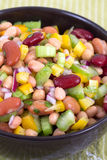 Mixed beans and vegetables salad Stock Image