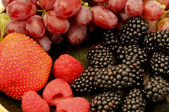 Mixed Berries And Grapes Stock Photography