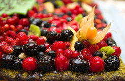 MIxed berries cake Stock Photography
