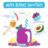 Mixed berries delicious healthy smoothies  Stock Photography
