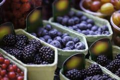 Mixed berries at eco marke Royalty Free Stock Image