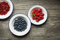 Mixed Berries fruits background Stock Photos