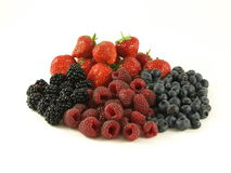 Mixed berries, isolated Royalty Free Stock Photo